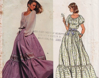 Vogue 1667 / Vintage Designer Sewing Pattern By Oscar de la Renta / Evening Skirt And Blouse / Size 12 Bust 34