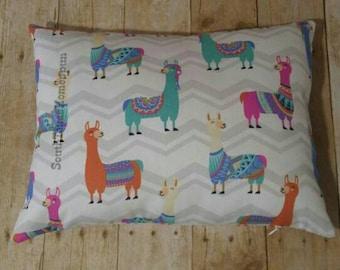 Lama print 12x16 Lumbar Pillow with invisible side zipper Alpaca Fun gift cheerful encouragment