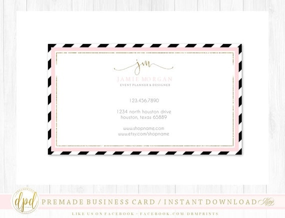 Custom Premade Blank DIY Single Sided Business Card | Business Template | Business Branding | Business Graphics | INSTANT DOWNLOAD-TR593