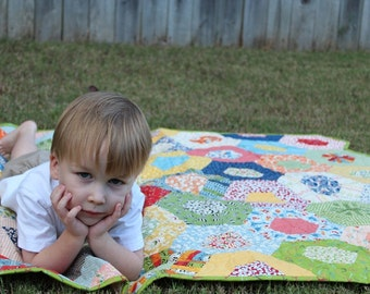 Quilt / Gender Neutral Baby Quilts / Custom Quilts / Nursery / Baby Quilt / Crib Bedding / Baby Gift /  Kids Toddlers / MADE TO ORDER