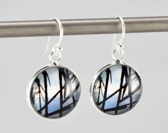 Reeds - Earrings -  Sterling Silver Ear Wires - Photography - Handmade - Unique Gift - Matching Bracelet Available -  Wearable Art!