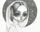 Original Drawing--Princess Leia
