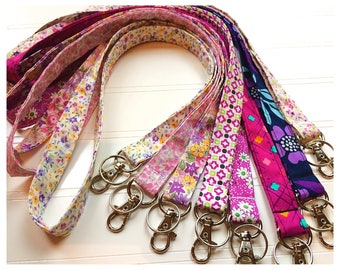 Lanyard, Fabric Lanyard, ID Badge Holder, Key Holder - Choose your design [32-39]