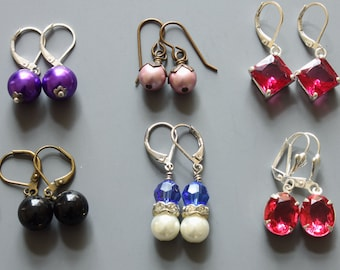 Your Choice Earrings, Low Price Earrings, Stocking Stuffers, Cheap Earrings, Christmas Earrings, Dangle Earrings, Festive Jewelry