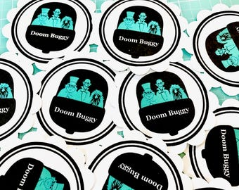 Disney Themed Haunted Mansion Style Doom Buggy Silhouettes - Disney Planner Stickers