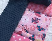 Personalized Ladybug DOTS  Quilted Nap Mat, Toddler Nap Mat, Nap Roll, Sleeping Bag