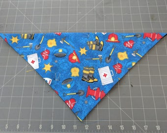 Dog Bandana, Police, Fire, EMS, Rescue, EMT, Paramedic, Emergency, First Responder, 911, neckerchief