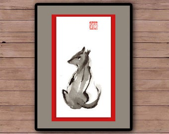 Dog Year of Dog. Custom Pet Portraits in a Zen Style. Personalized painting. year of the dog, chinese zodiac, zen decor, baby shower