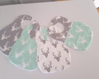 Baby Bibs set of four, Baby shower gift