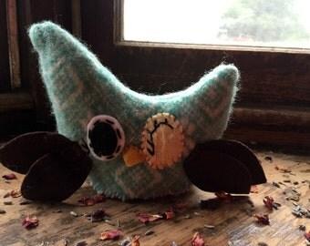 owl plush, owl doll, owl decor, lavender sachet, owl softie, love note