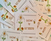 Daisy Bee fabric label  Personalized