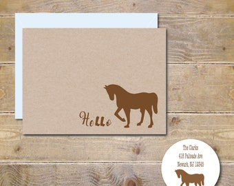 Horse Thank You Cards, Horse Note Cards, Horse Cards, Equestrian, Gifts for Equestrians, Horse Stationery, Thank You Notes