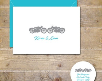 Motorcycle Wedding Thank You Cards, Wedding Thank You Cards, Motorcycles, Bridal Shower Thank You Cards, Bridal Shower, Affordable Weddings