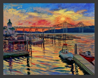 Tarrytown Harbor Sunset by Ronnie Levine
