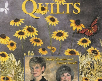 Floral Nature Scenery Trees Flowers Water Sunset Landscape Quilts Quilting Book Leisure Arts 2001 Softcover Nancy Zieman and Natalie Sewell