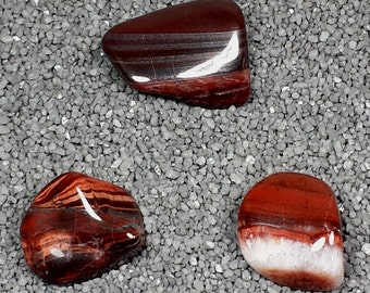 Red Tiger's Eye Tumble Polished Crystal Stone, 1 pc, Sizes 1.1 to 1.6 Inch, TS826