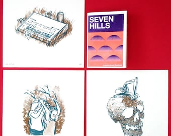 Seven Hills limited edition screen print set of three