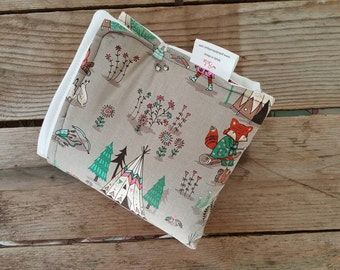 Diaper Changing Pad - Fox Baby Changing Pad -  Nappy Changing Mat - Waterproof Play Mat - Baby Shower Gift Boy - Woodland Baby Nursery