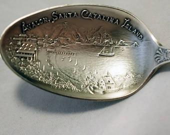 1920s Catalina Island souvenir sterling silver spoon