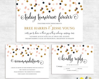 Wedding Invitation set / wedding invitation printable / wedding invites printed