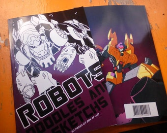 Transformers sketchbook Signed Print Edition by Boo Rudetoons