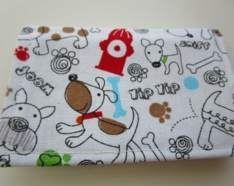 Dogs and Puppies Fabric Wallet, Credit Card Wallet, Dog Lover, Loyalty Card Holder, Business Card Wallet, Gift Card Holder, Small Wallet
