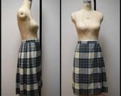Vintage PROUT & LAMONT/Sportcraft Authentic Tartan Scottish Skirt Kilt Ancient Dress Stewart Plaid Size 16