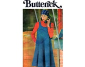 Butterick 4413 Easy 70s Tent Dress Vintage Sewing Pattern Size 11JP Bust 34 Inches UNCUT Factory Folded