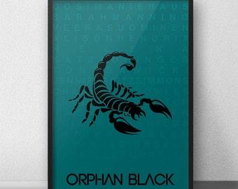 Orphan Black Minimalist Art Poster Orphan Black Tv Series Wall Art Print Minimal Decor Tv Show Tatiana Maslany Helena Sara Manning Cosima