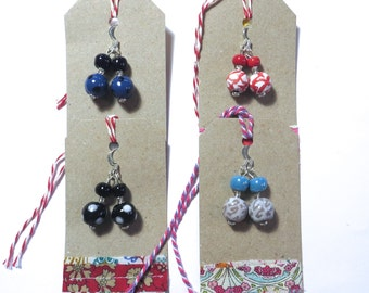 Kazuri Earrings, Ceramic Earrings, Four pairs for the price of Two