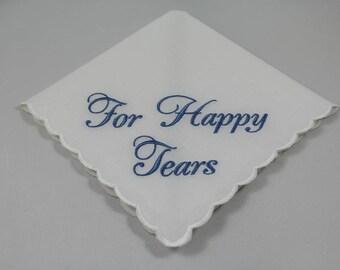 Wedding Handkerchief - Embroidered - Wedding Gift - Keepsake - For Happy Tears - Simply Sweet Hankies