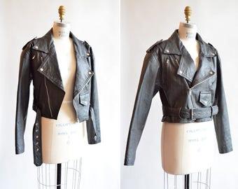 Vintage 1990s LEATHER moto jacket