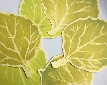 GreenAspen Leaves - Cut Out Prints for decoration - Place cards, wishing trees, escort cards, events