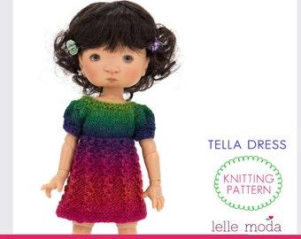 Almond Dress - Knitting Pattern - Little Darling Dolls by ...