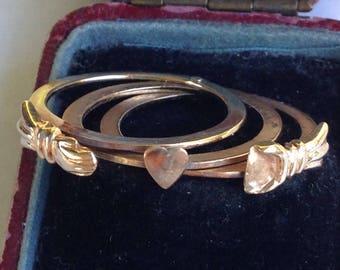 SALE - Vintage 10k Gold Fede Gimmel Ring - Sz 7