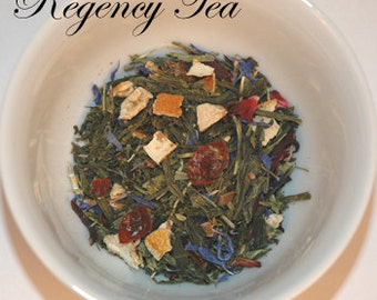 Green, STRAWBERRY GREEN, Organic ~ 4 Oz Loose Leaf Tea tin, Regency Tea