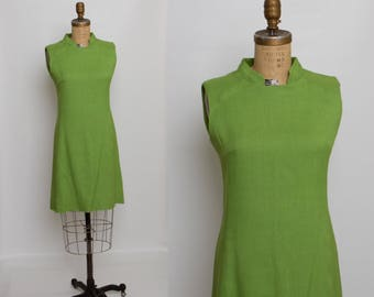60s spring green dress | vintage 1960s sheath