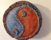 Earth-friendly Yin Yang Wall Art, Yin Yang, Taijitu Art, Gourd Yin Yang, Yin Yang Upcycled Wall Art, Ying Yang shipping included