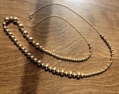 RESERVED for Aashaa Do Not Purchase / Vintage 1980s 14k Gold Add A Bead Necklace
