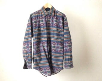 vintage SOUTHWESTERN native american COTTON button up shirt IKAT