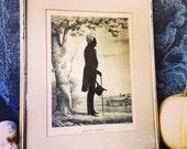 """Silhouette  / Andrew Jackson / Framed Lithograph / E. B. & E. C. Kellogg / 17"""" X 21"""""""