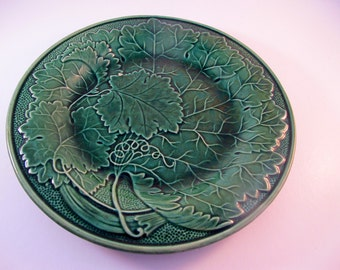 Majolica Greenware Shallow Bowl or Plate Antique