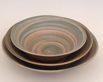 Set of serving bowls.