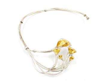 Torque 'Florentina' - Silver Calas with Gold