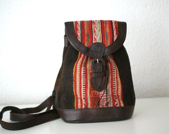 Aguayo Leather Backpack.