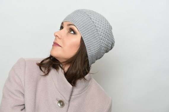 Merino Wool Hat, Merino wool beanie, Gray warm hat, Winter hats for women, winter beanie, Beanie hat, Knitted hats for woman