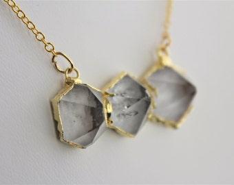 Quartz Necklace Quartz Jewelry Boho Necklace Boho Jewelry Geode Necklace Druzy Necklace Crystal Point Necklace Quartz Point Necklace