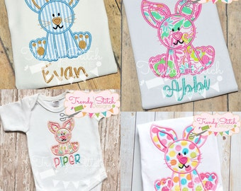 Bunny 2 Applique Machine Embroidery Design Easter INSTANT DOWNLOAD