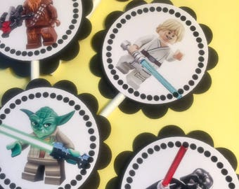 30 Lego Star Wars Dimensional Cupcake Toppers *Ready to Ship*