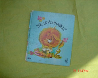 The Lion's Haircut by Jennifer Giddings - Tell-a-Tales Book-  A Whitman Book 1969 - Sweet